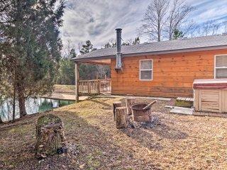 Quaint Derby Cabin w/ Spacious Deck, Grill & Pond!