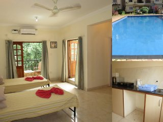 37- Serviced Studio Apartment Central Calangute & Free WiFi