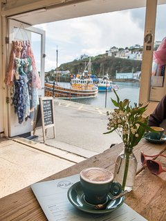Whatever the weather She Sells offers fabulous coffees with a breath taking view of the harbour