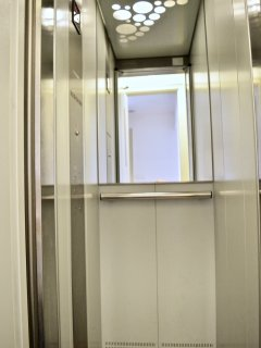 Private modern lift in building.