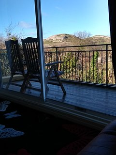 View over 'Little Orme'' from Lounge