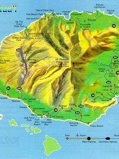 Poipu is on the south shore of the Kauai Map