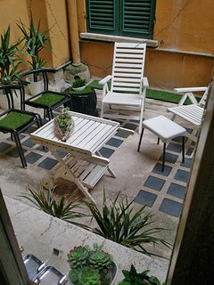 our patio as seen from the 3rd room