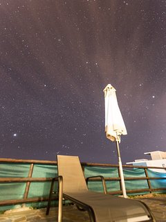 Amazing starry night skies over the patio