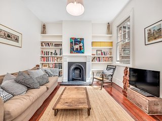 Arty, spacious two-bedroom house in central Sydney