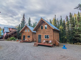 NEW! 1BR + Loft Sterling Log Cabin on Kenai River!