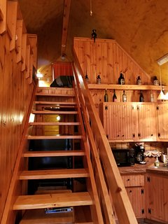 Head upstairs to find more sleeping accommodations in the loft.
