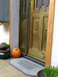 the apartment door in november