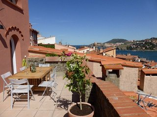 RENTAL HOUSE 6 ROOMS SEA VIEW TERRACE CITY CENTRE COLLIOURE
