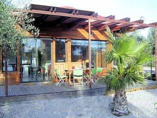 Casa de madera, 8 pers. 400m de la playa, ampolla, Costa Dorada