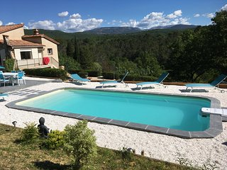 In the Var in Tourettes, villa with heated pool, pets allowed