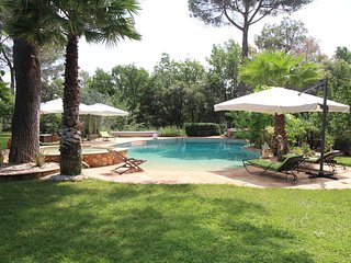 Stone house in Draguignan, Var, wide park, heated pool, pets allowed
