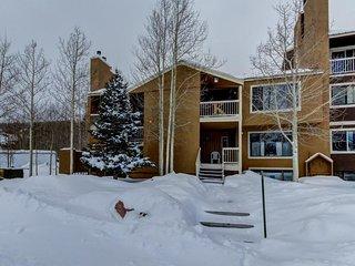 Mountainview condo with a balcony, shared sauna & hot tub, great ski access