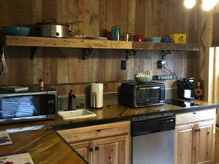 nice kitchen loaded with appliances