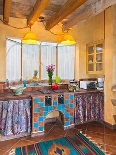 Kitchen with four burner stove