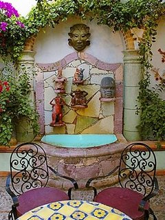 Very cool fountain in front courtyard