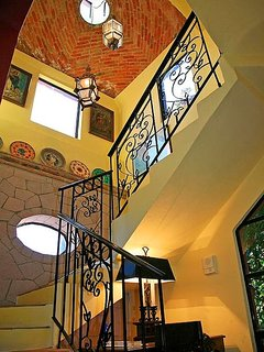 Stairwell to upstairs bedrooms