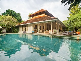 Spacious 4bdr family Beach Villa, priv. pool, garden, 2mn walk Sanur beach, shop