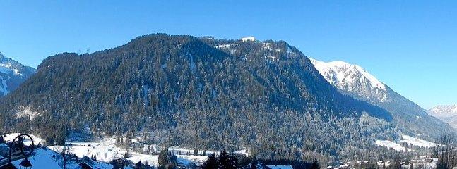 vue sur le mont de Grange depuis le balcon (Hiver)