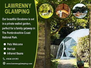 Lawrenny Glamping - luxury geodome with hot tub and sauna