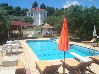 Villa Askamnia Beach Aparthotel Pool Bar Fitness Billiard BBQ 80m vom Badestrand