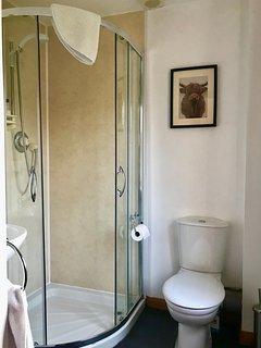Ensuite shower room adjacent in the twin bedded room.