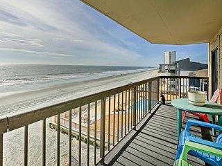 NEW! 2BR Murrells Inlet Condo w/Oceanfront Balcony
