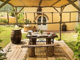 casa di campagna toscana con giardino