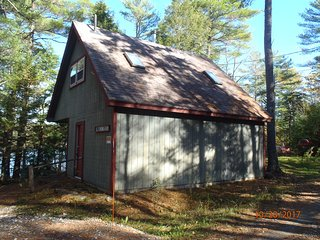 Seasonal lake front cottage on Pitcher Pond in Midcoast Maine