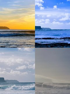 Cliffs of Moher at different times
