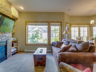Ski-in/ski-out waterfront townhome w/ shared pool in the heart of ski country!
