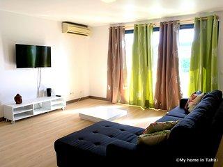 Duplex Opuroa - Papeete plein centre, 2 ch 1sdb - clim -Wifi - 4 pers