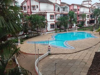 2 BHK Beautiful Apartment with Swimming Pool in Calangute