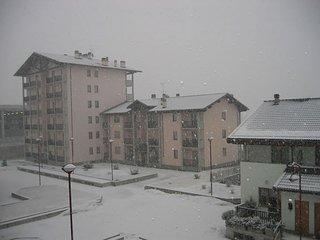 Vista cortile inverno