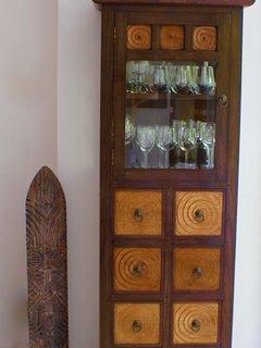 Elegant Burmese wine cabinet