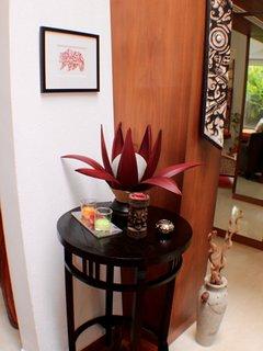 Balinese palm lamp & Bornean tribal shield
