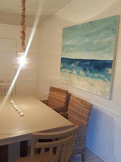 Original art throughout the house.