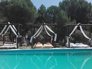 villa  de  la  pedriza  de  Madrid  con  piscina  privada