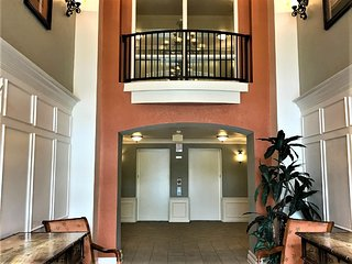 Lobby entrance of the building with 2 elevators