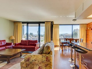 Family friendly condo w/ partial ocean views & shared pool/sauna!
