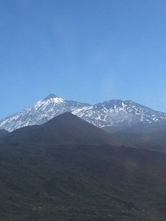 Beautiful Mount Teide covered in Snow
