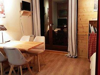 Studio-cabine 4 p chaleureux esprit chalet