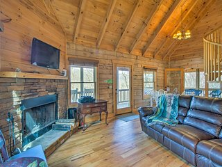 NEW! 1BR+Loft Asheville Area Cabin on Working Farm