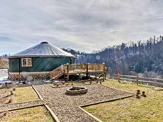 NEW! Luxury Riverfront 1BR Clyde Yurt by Asheville