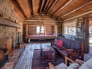 1800s Cabin on a Private Ranch in the Mountains