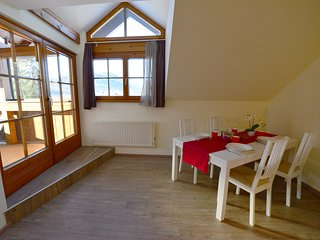 Apartment 4B with balcony, sauna & private beach