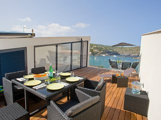 Stunning view of Port de Soller bay with 6 beds in modern townhouse!
