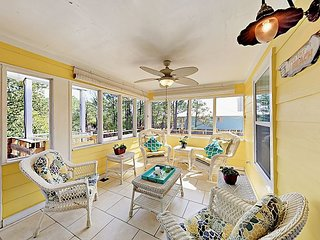 Pet-Friendly 4BR w/ Outdoor Living Spaces & Guest Cottage – Walk to Beach