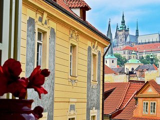 View from living room of Prague Castle.