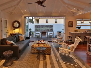 The indoor and outdoor spaces blend seamlessly